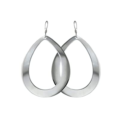 a04788757 Image Unavailable. Image not available for. Color: 925 Sterling Silver Big  Teardrop Earrings ...
