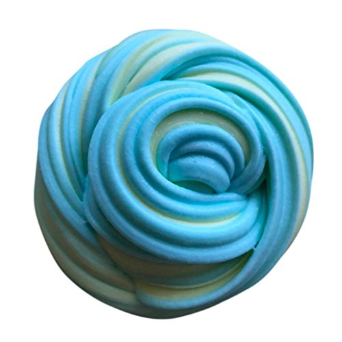 Plasticine Sludge Clay Toy, Auwer Fluffy Floam Slime Putty Scented Stress Relief No Borax Kids Toy - C1 Blue Round