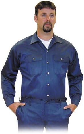 Steel Grip Vinex NVB89575-LG - Camisa (227 g, con botones, resistente al fuego, talla grande), color azul: Amazon.es: Bricolaje y herramientas