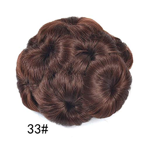 Shang Jie Women Curly Chignon Plastic Comb Hair Hairpiece Wig Clip in Big Hair Bun Claws Pin Crown Tiara Hair Accessories K