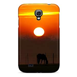 New OscarAPaz Super Strong Grazing At Sunset Tpu Case Cover For Galaxy S4