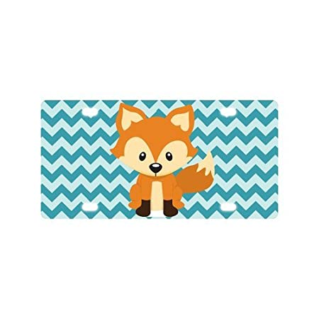 car tag for funny fox cartoon metal license plate frame new 12 x