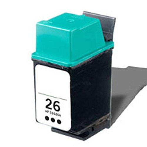 26 51626a Black Ink Cartridge - Compatible Black Ink Cartridge for HP 26 (51626A)