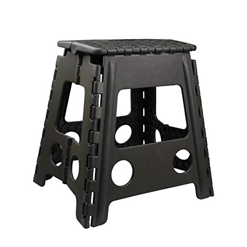 Usmascot Non-Slip Folding Step Stool, Sturdy Safe Enough - Holds up to 350 Lb - Footstool for Adults or Kids, Folding Ladder Storage/Opens Easy, for Kitchen,Toilet,Camping ect. (Army Green, XL)