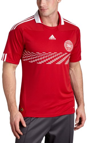 Denmark Home Jersey (Power Red, XLarge) (Home Adidas Denmark Jersey)