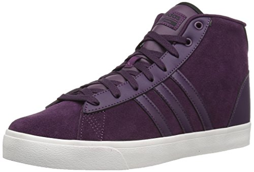adidas Neo Women's CF Daily QT Mid W Sneaker, Red Night/Red Night/Black, 9 Medium US (Red Women Sneakers Stripes)