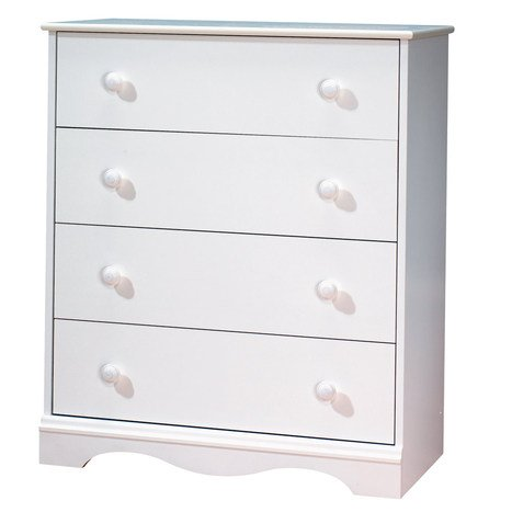 South Shore Furniture, 4 Drawer Chest, Pure White - South Shore Country Dresser