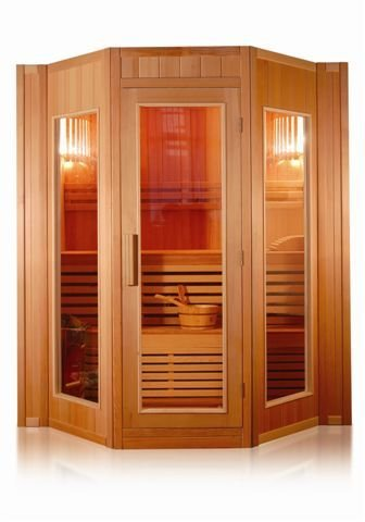 Sauna Finlandese Cm 200x208 Da 5 Posti In Legno Hemlock