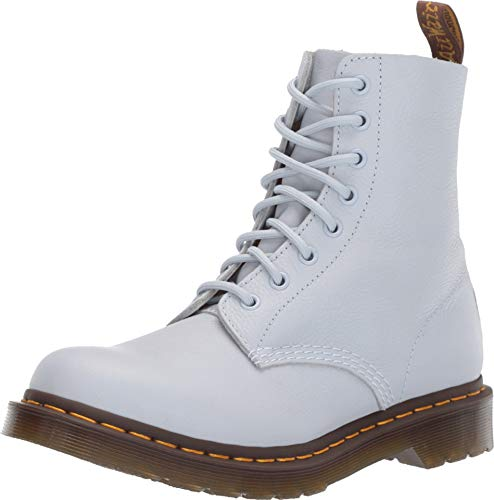 Dr. Martens Women's 1460 Pascal Virginia Leather Lace Up Boot Bluemoon-Blue-3 Size 3