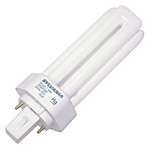 (10 Pack) Sylvania 20454 CF26DT/827/ECO 26-Watt 2700K 2-Pin Single Tube Compact Fluorescent Lamp (Plug Compact Fluorescent 26w)