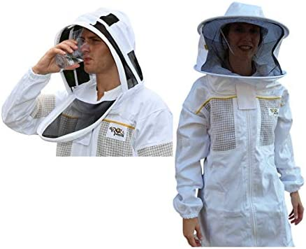 3X-Large OZ ARMOUR Beekeeping Suit Ventilated Poly Cotton Extra Cool Beekeeper Costume Kit with 2 Hoods Fencing//Folding /& Round Brim Hat