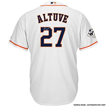 best service e4aeb e7317 Amazon.com: JOSE ALTUVE Houston Astros 2017 World Series ...