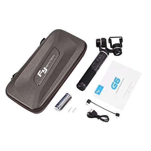 Tivolii FeiyuTech G6 Estabilizador de cardán de Mano de 3 Ejes Splashproof para teléfonos Inteligentes con cámara GoPro...