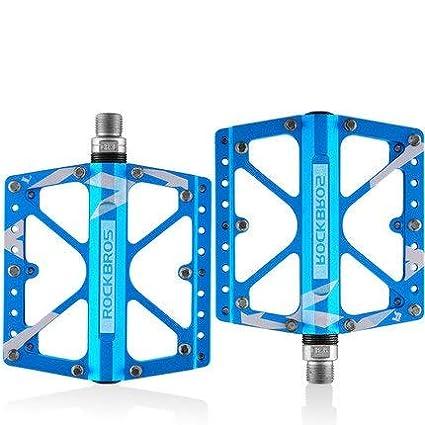 RockBros Bicycle Pedals Road Bike MTB Carbon Fiber Sealed Bearings Pedals Blue