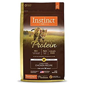 Instinct Ultimate Protein Grain Free Cage Free Chicken Recipe Natural Dry Cat Food by Nature's Variety, 10 lb. Bag 86