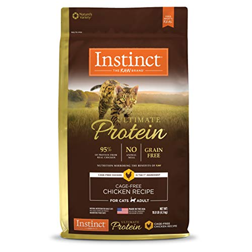 Instinct Ultimate Protein Grain Free Cage Free Chicken Recipe Natural Dry Cat Food by Nature's Variety, 10 lb. Bag (Instinct Canned Cat Food)