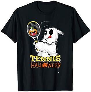 Funny Halloween Tennis , Cute Ghost Pumpkin Tennis Gift T-shirt | Size S - 5XL