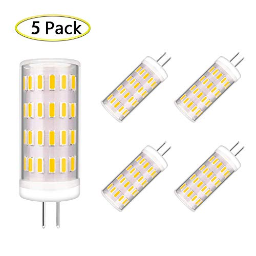 G4 LED Bulb Dimmable 4 Watt T3 G4 Bulb Equivalent to 30W~35W G4 Halogen Bulb, JC Bi-Pin G4 Base, AC/DC 12V Warm White 3000K G4 Light Bulb, 360° Beam Angle (5 Pack) ()
