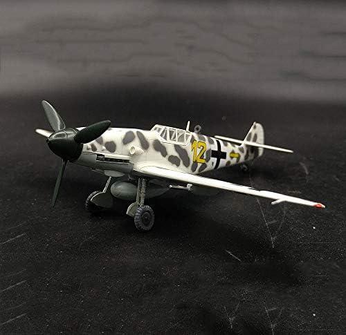 軍用WWII ジェット戦闘機のプラモデル、72分の1スケールBF109G-2 JGファイターモデル、アダルトグッズやギフト、5.4Inch X4.9Inch