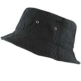 90cf8a6b6a50a5 The Hat Depot 300N Unisex 100% Cotton Packable Summer Travel Bucket Hat (S/