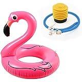Ambithou Flamingo Kids Float Swimming Ring Inflatable Flamingo Pool Float Kids Swim Ring Pool Float Swimming Pool Toys, Durable Blow Fun on The Water (Pink)