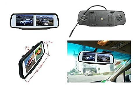 Monitor specchio retrovisore doppio schermi da 4 3 pollici con 4