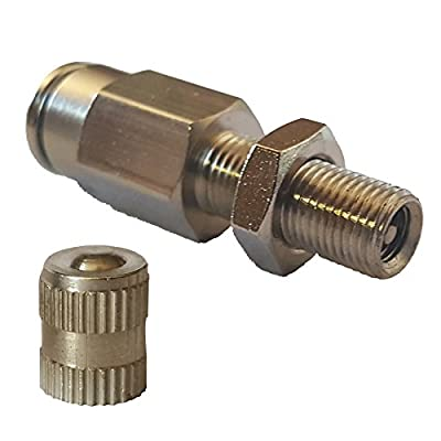 """airmaxxx 1/4"""" Schrader Inflation Valve Fill Air Ride Suspension Push to Connect"""