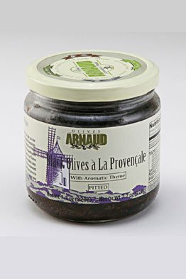 Arnaud Black Olives a La Provencale with Aromatic Thyme, Pitted, 7.7 oz. by Arnaud