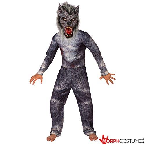 Boys Werewolf Legend Deluxe Costume - 4 Piece Quality (Werewolf Costumes Kids)
