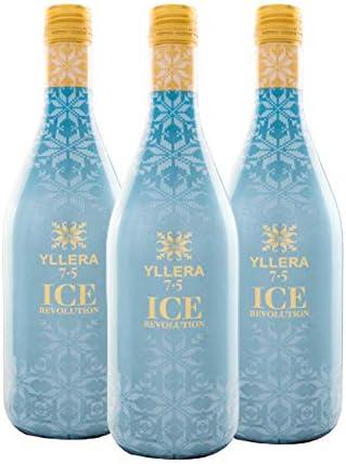 Yllera | Vino Tinto Yllera 7.5 Ice Revolution | Pack de 3 uds | Tempranillo | 75 cl | Vino de Aguja | Aroma a Frutas Rojas y Negras | Dulce y Refrescante |con Finas Burbujas | Vino Español