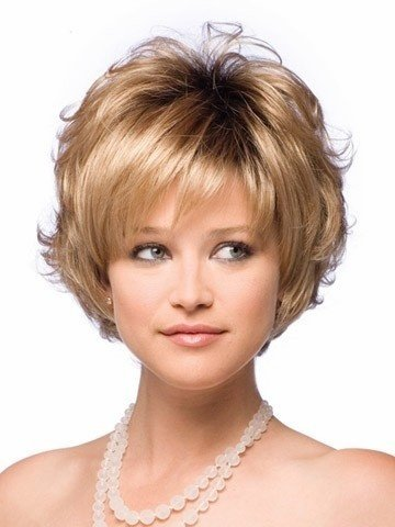 Amazon.com: ZHXuan Fashion Peruca Short Grey White Synthetic Hair Natural Curly Wavy Women Parrucca Grigia Wigs+Free Wig Cap (Size: Short, Color Silver): ...