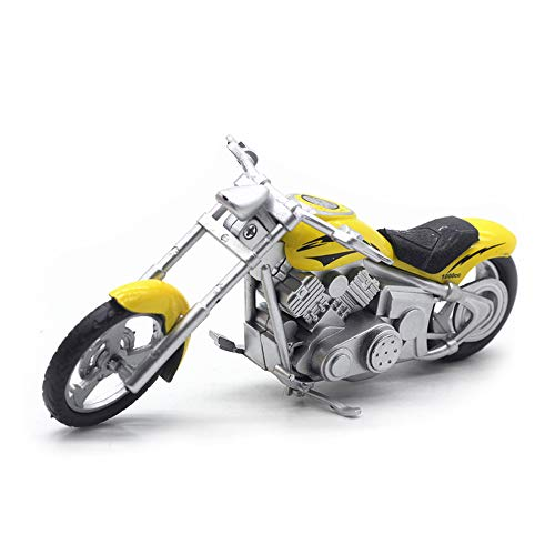 HanYoer Motorcycles Model 1:32 Scale Diecast Car Model Collection Motorcycle Lovers (Yellow) ()