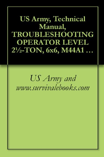 US Army, Technical Manual, TROUBLESHOOTING OPERATOR for sale  Delivered anywhere in USA