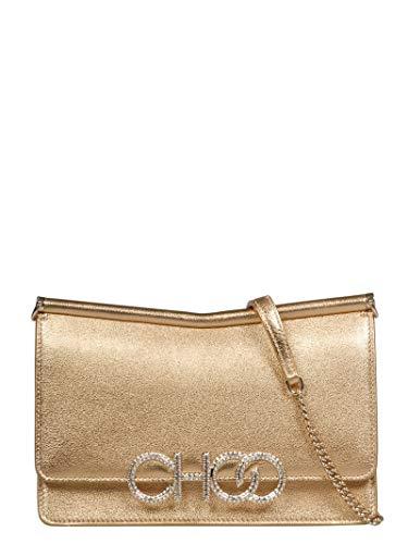 Jimmy Choo Sidneymymngold Sac à bandoulière en cuir pour femmes Gold Leather