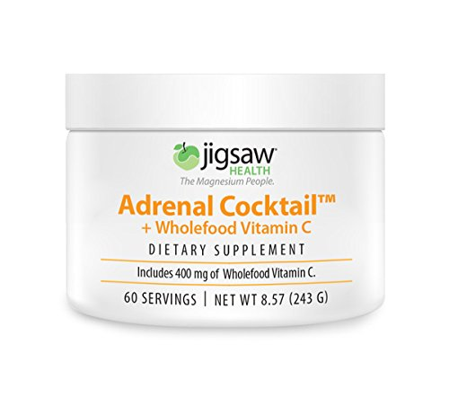 Jigsaw Adrenal Cocktail + Wholefood Vitamin C (Jar) - Includes 400 mg of Wholefood Vitamin C - Powdered Drink Mix, 60 servings