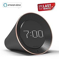 Vobot Smart Alarm Clock with Amazon Alexa, 5W Speaker, Voice Control, LED Display, Timer/Date/Weather/Daily News/Radio/Music(Amazon Music, iHeartRadio, TuneIn etc)