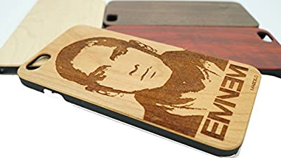 Eminem Rap Cases Custom Engraved For iPhone 7 Plus Phone, Natural Wood Case