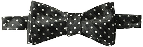 BUTTONED DOWN Men's Classic Silk Self-Tie Bow Tie, black dot, One Size