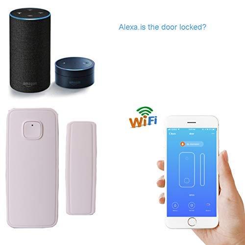 le garage la maison alarme de s/écurit/é pour la maison la boutique compatible avec Alexa Echo et Google Home Alarme sans fil avec d/étecteur douverture de porte