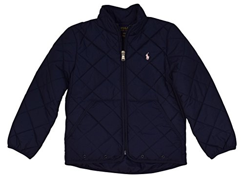 Polo Ralph Lauren Little Girls' Quilted Logo Jacket - 4/4T - Newport - Ralph Discount Lauren Kids