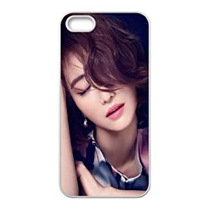 iPhone 5 5s Cell Phone Case White Ko Joon Hee Kpop Film Actress Closed Eyes OJ654469
