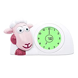 Zazu Kids SAM Sleep Trainer Alarm Clock and Nightlight NEW FEATURES (Pink)