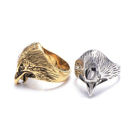 mens-316l-stainless-steel-vintage-eagle-ring-silver-gothic-vintage-biker-size-9