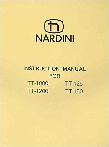 NARDINI TT-1000, 1200, 125, 150 Operator's Part Manual: Misc ... on graziano lathe wiring, leblond lathe wiring, supermax lathe wiring,