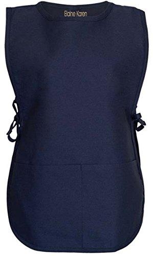 Elaine Karen Men's Women's Unisex Cobbler Chef Apron Art Smock with 2 Pockets, 6Pk - X Large - Navy ()