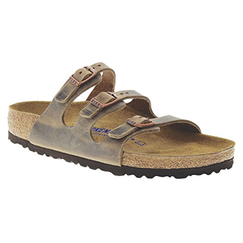 Birkenstock Women's Florida Soft Footbed Sandal Tobacco Oiled Leather Size 40 M EU ()