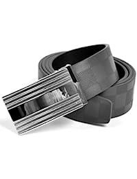 Men's Reaction Checkered Leather Adjustable Belt