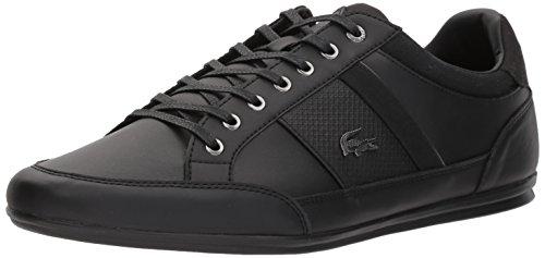 Lacoste Men's Chaymon 118 1 Sneaker, Black/DKGRY, 9.5 M US