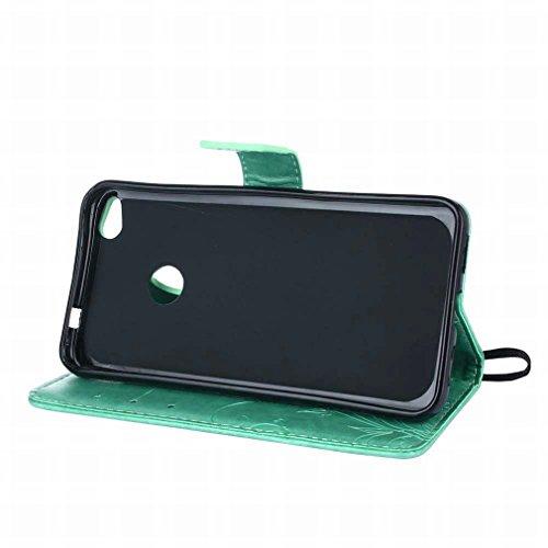 Custodie Huawei P8 Lite (2017) / GR3 (2017) Cover, Yiizy Girasole Design Custodia Portafoglio Silicone Gomma Flip Cover Case PU Pelle Cuoio Copertura Case Slot Schede Cavalletto Stile Libro Bumper Pro