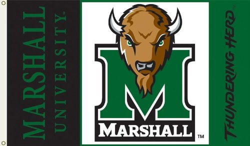 NCAA Marshall Thundering Herd 3-by-5 Foot Flag with Grommets